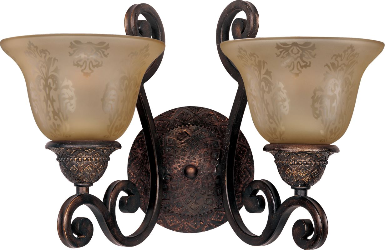 """Maxim 11247 2 Light 16"""" Wide Bathroom Fixture from the Symphony"""