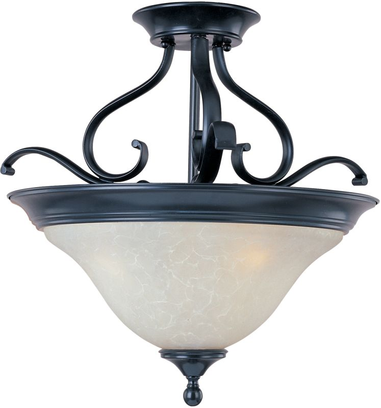 "Maxim 11801 3 Light 19"" Wide Semi-Flush Ceiling Fixture from the Linda"