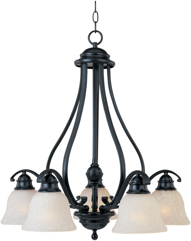 Maxim 11815 Linda 5 Light Single-Tier Chandelier Black Indoor Lighting