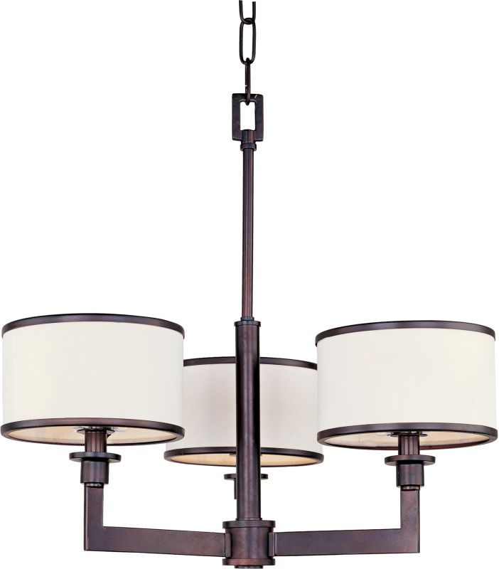 Maxim 12054 Nexus 3 Light 1 Tier Mini Chandelier Oil Rubbed Bronze