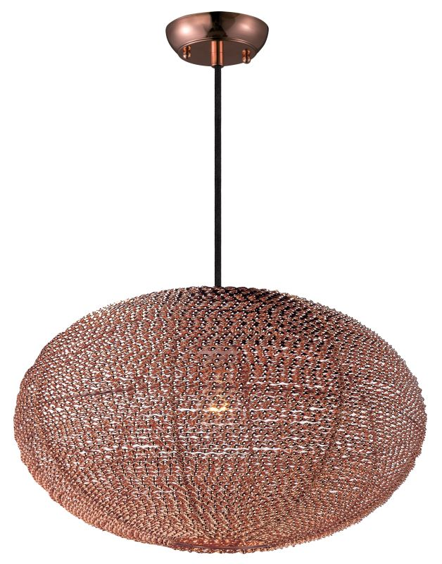 Maxim 12191 1 Light 20&quote Wide Pendant from the Twisp Collection Copper