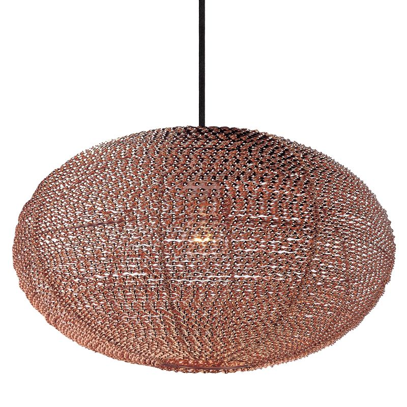 """Maxim 12191 1 Light 20"""" Wide Pendant from the Twisp Collection Copper"""