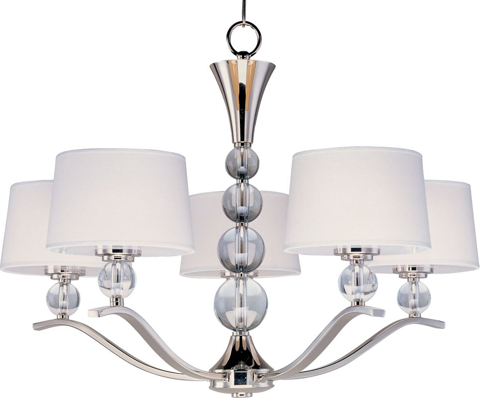 Maxim 12755 Rondo 5 Light 1 Tier Chandelier Polished Nickel Indoor