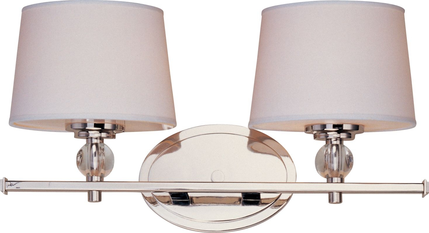 Maxim 12762wtoi oil rubbed bronze white fabric shade 2 for Bathroom 8 light fixtures