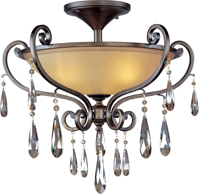 "Maxim 14302 3 Light 25.75"" Wide Semi-Flush Ceiling Fixture from the"