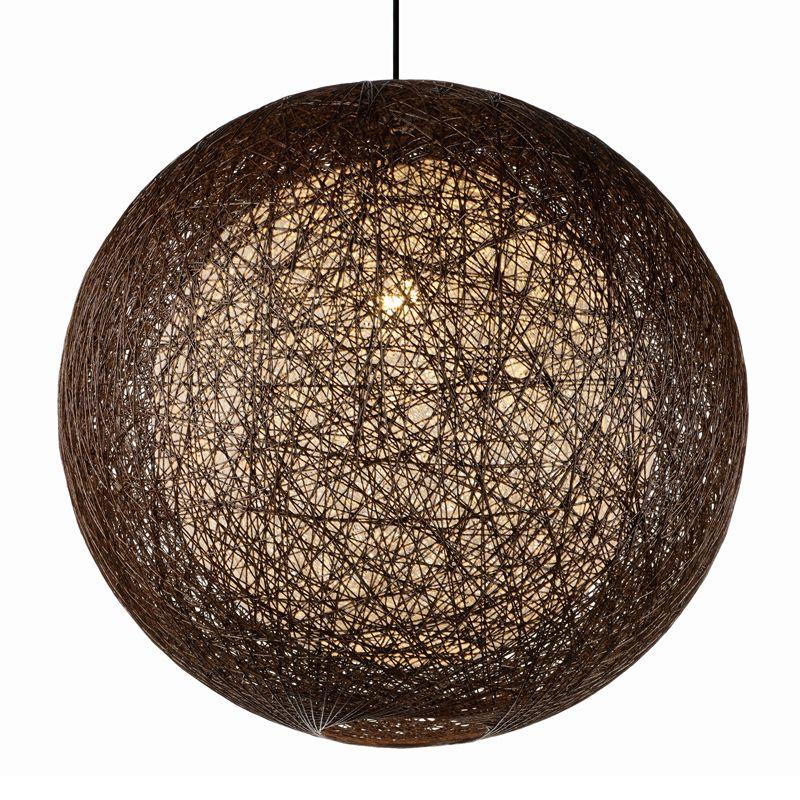 Maxim 14407 Bali 1 Light Single Pendant Chocolate Indoor Lighting