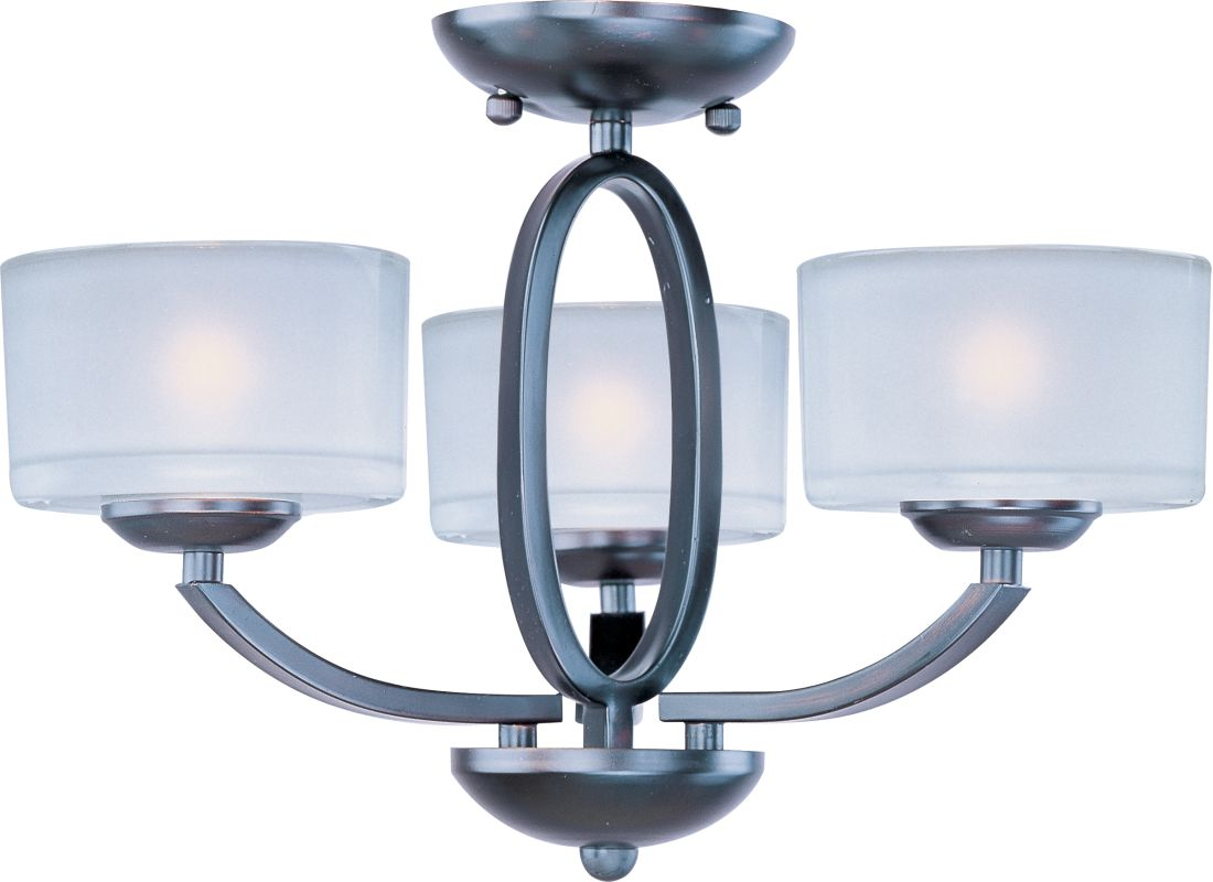 "Maxim 19041 3 Light 17"" Wide Semi-Flush Ceiling Fixture from the Elle"