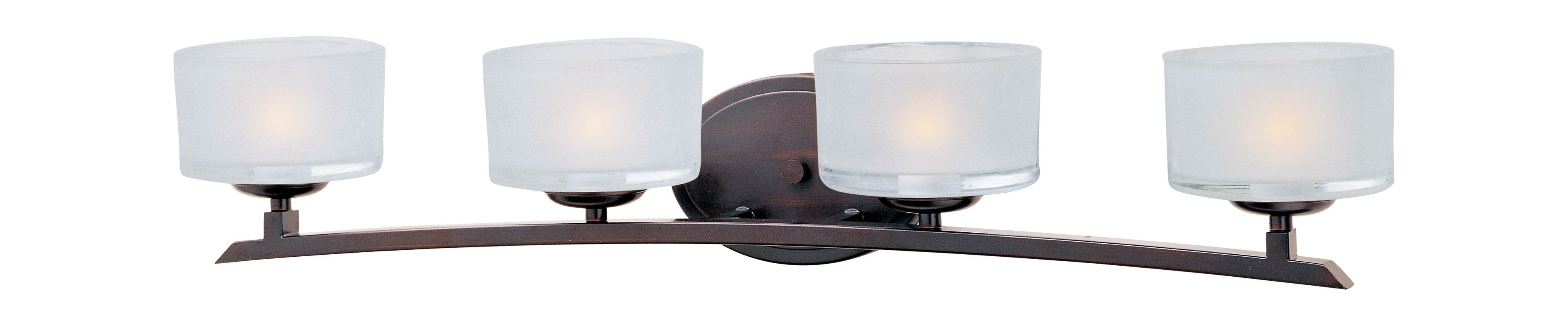 "Maxim 19054 4 Light 29"" Wide Bathroom Fixture from the Elle Collection"