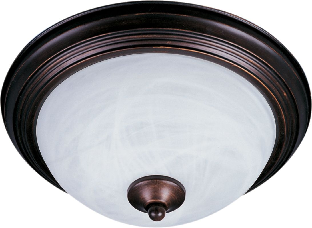 Maxim 1940 Single-Bulb Flush Mount Outdoor Ceiling Fixture - Glass