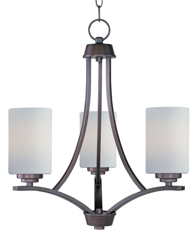 Maxim 20033 Deven 3 Light 1 Tier Mini Chandelier Oil Rubbed Bronze