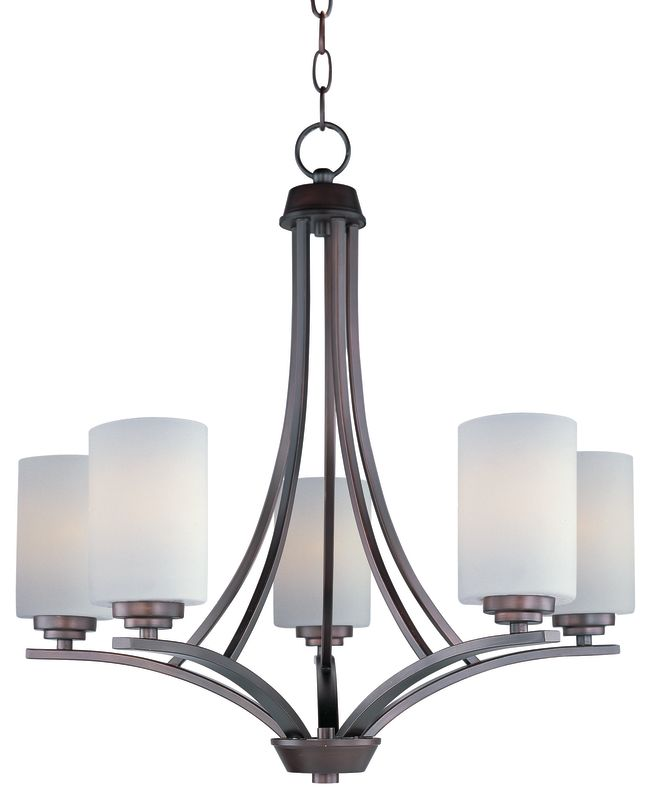 Maxim 20035 Deven 5 Light 1 Tier Mini Chandelier Oil Rubbed Bronze