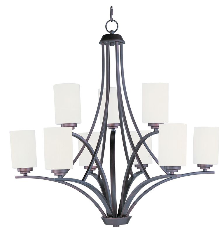 Maxim 20036 Deven 9 Light 2 Tier Chandelier Oil Rubbed Bronze Indoor
