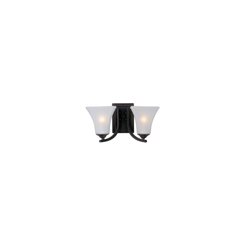 "Maxim 20099 2 Light 7"" Tall Wall Sconce from the Aurora Collection Oil"
