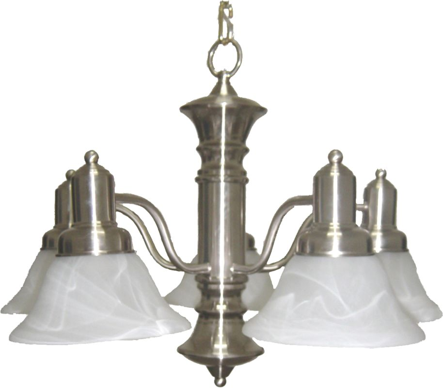 Maxim 20325 Newburg 5 Light Single-Tier Chandelier Satin Nickel / Sale $148.00 ITEM: bci2629496 ID#:20325MRSN UPC: 783209003354 :