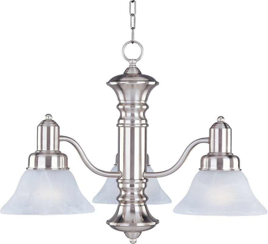 Maxim 20326 Newburg 3 Light Single-Tier Chandelier Satin Nickel /