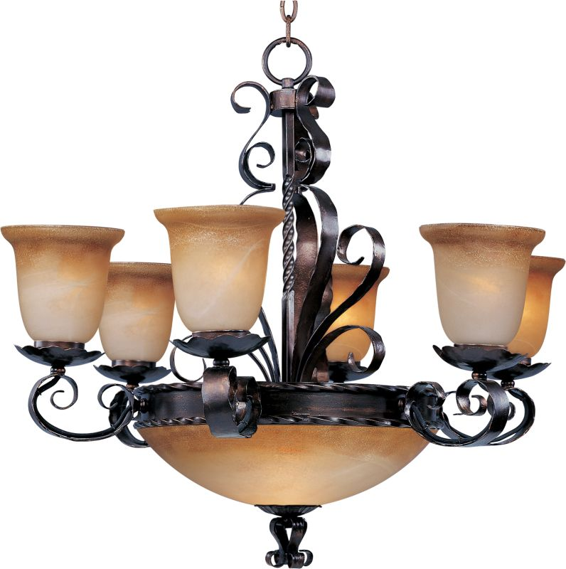 Maxim 20613 Aspen 6 Light Single-Tier Chandelier Oil Rubbed Bronze Sale $590.00 ITEM: bci2629502 ID#:20613VAOI UPC: 783209006591 :