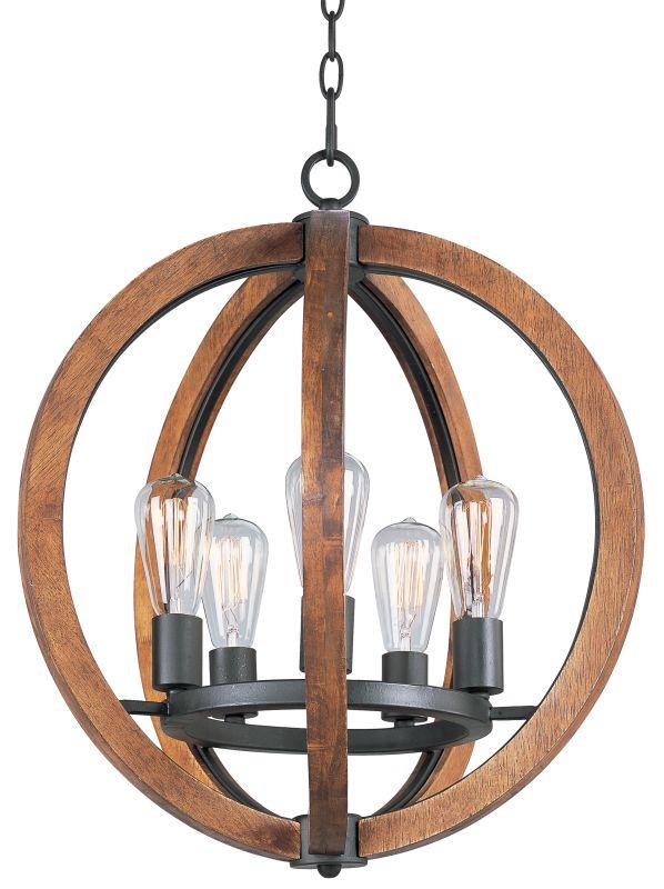 Maxim 20917 Bodega Bay 5 Light 18´´ Chandelier Anthracite Indoor