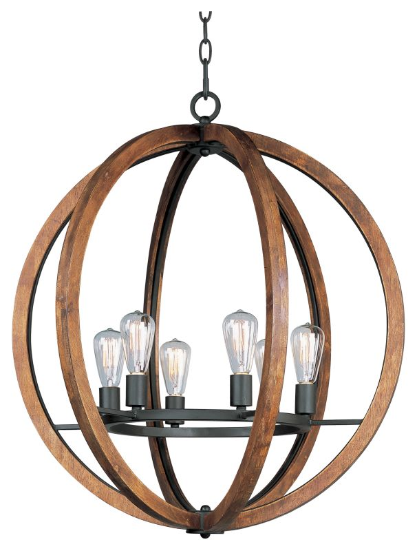 Maxim 20918 Bodega Bay 6 Light 30´´ Chandelier Anthracite Indoor