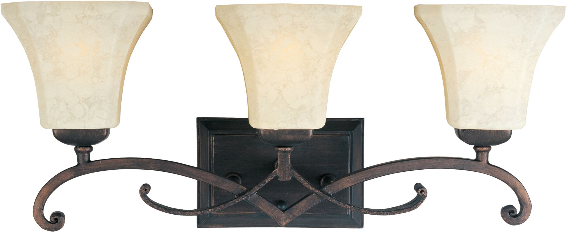 "Maxim 21073 3 Light 23.5"" Wide Bathroom Fixture from the Oak Harbor"