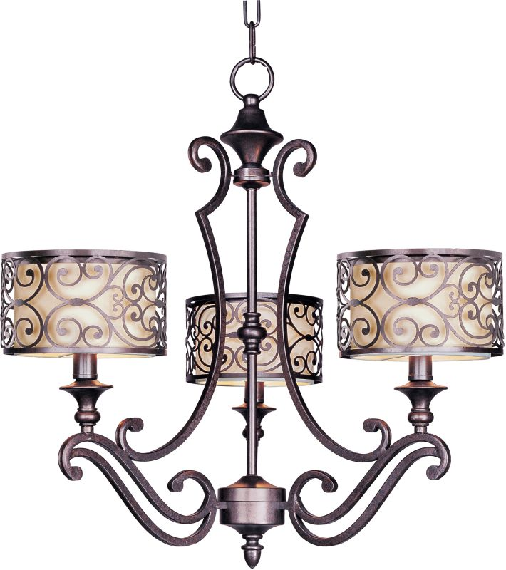 Maxim 21153 Mondrian 3 Light Single-Tier Chandelier Umber Bronze
