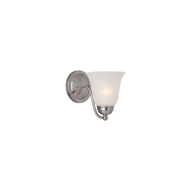 """Maxim 2120 1 Light 8"""" Tall Wall Sconce from the Basix Collection Satin"""