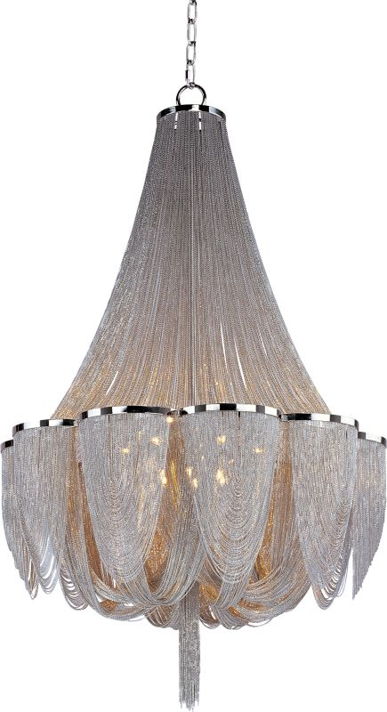Maxim 21468 Chantilly 14 Light Single-Tier Chandelier Polished Nickel Sale $7550.00 ITEM: bci2629535 ID#:21468NKPN UPC: 783209096738 :