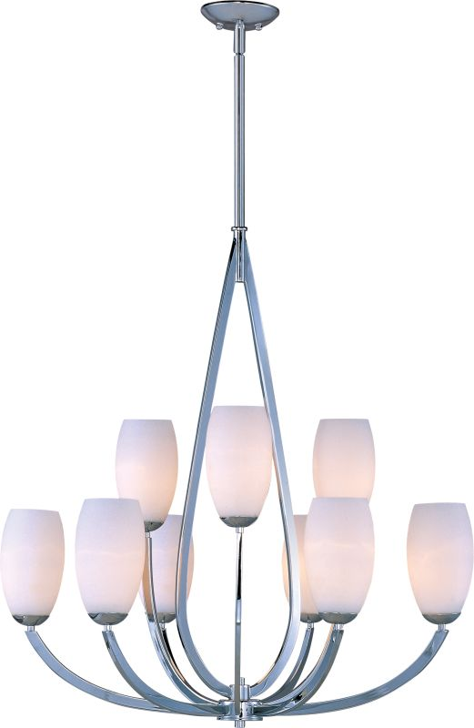 Maxim 22176 Elan 9 Light Double-Tier Chandelier Polished Chrome / Sale $598.00 ITEM: bci2629539 ID#:22176SWPC UPC: 783209088078 :