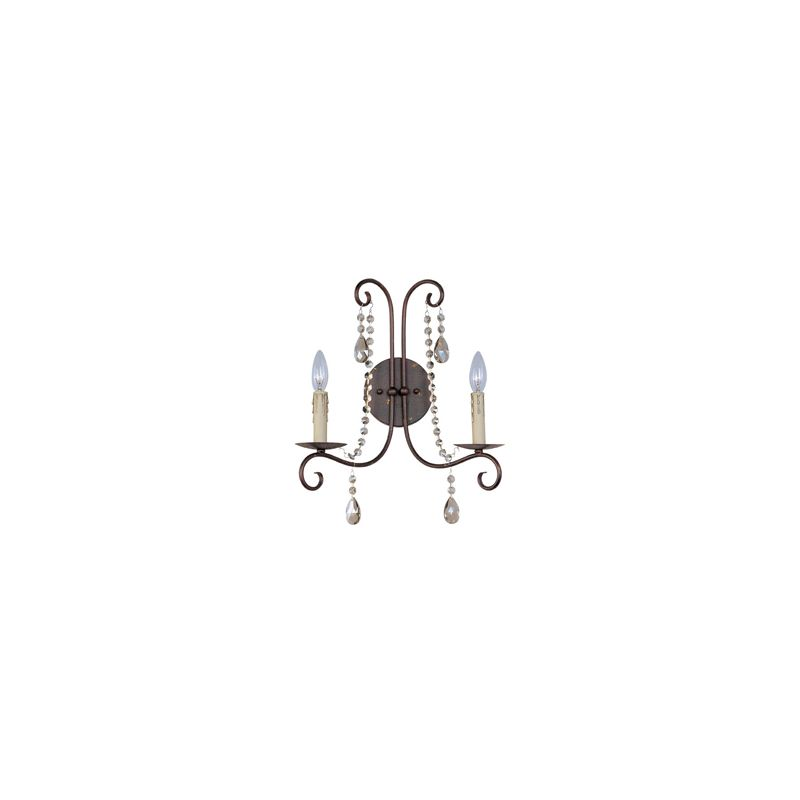 "Maxim 22192 2 Light 15"" Tall Wall Sconce from the Adriana Collection"