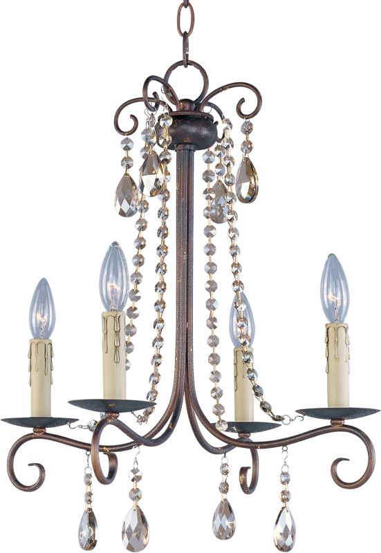 Maxim 22194 Adriana 4 Light 1 Tier Mini Chandelier Urban Rustic Indoor