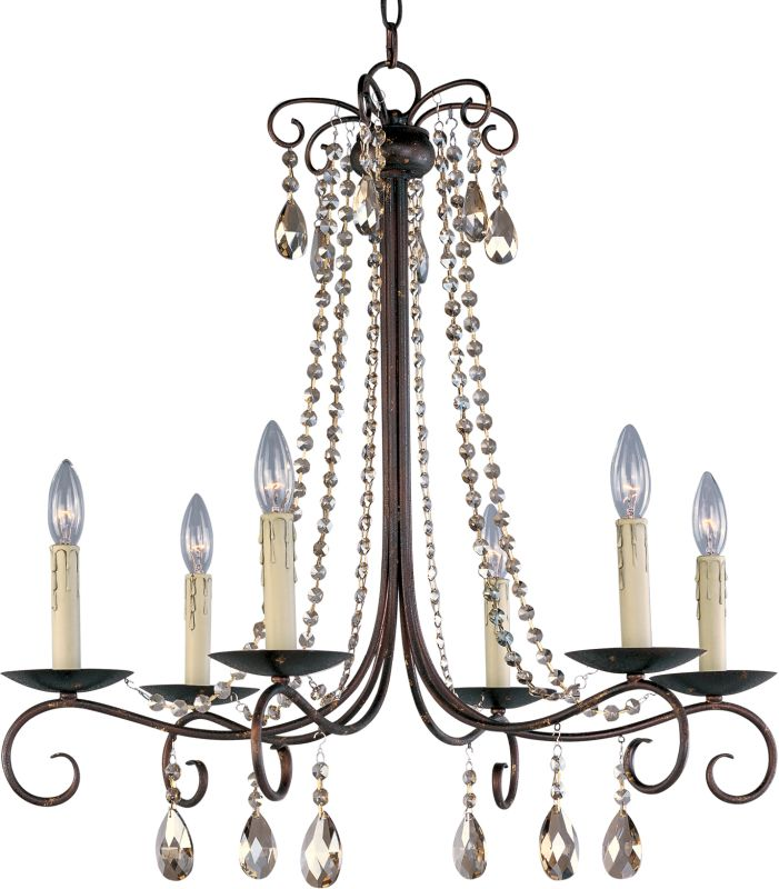 Maxim 22196 Adriana 6 Light 1 Tier Candle Style Chandelier Urban