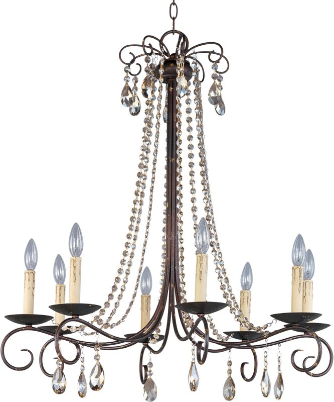 Maxim 22197 Adriana 8 Light 1 Tier Candle Style Chandelier Urban