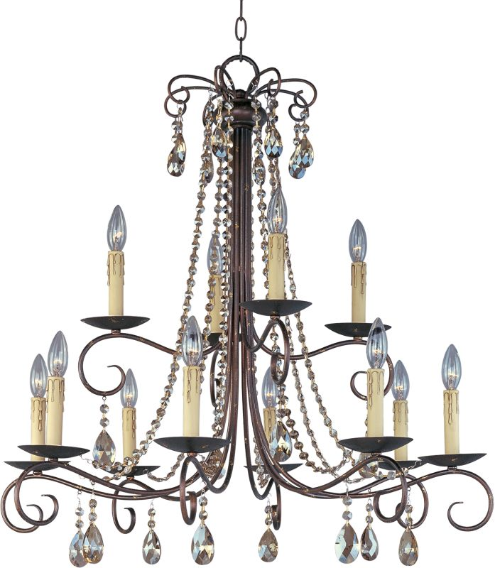 Maxim 22199 Adriana 12 Light 2 Tier Candle Style Chandelier Urban