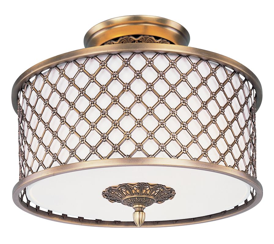 Maxim 22361 3 Light 15.5&quote Wide Semi-Flush Ceiling Fixture from the