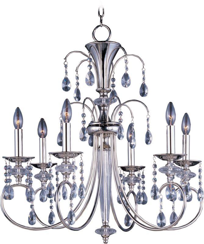 Maxim 24306 Montgomery 6 Light Single-Tier Chandelier Polished Nickel Sale $600.00 ITEM: bci2629575 ID#:24306CLPN UPC: 783209091597 :