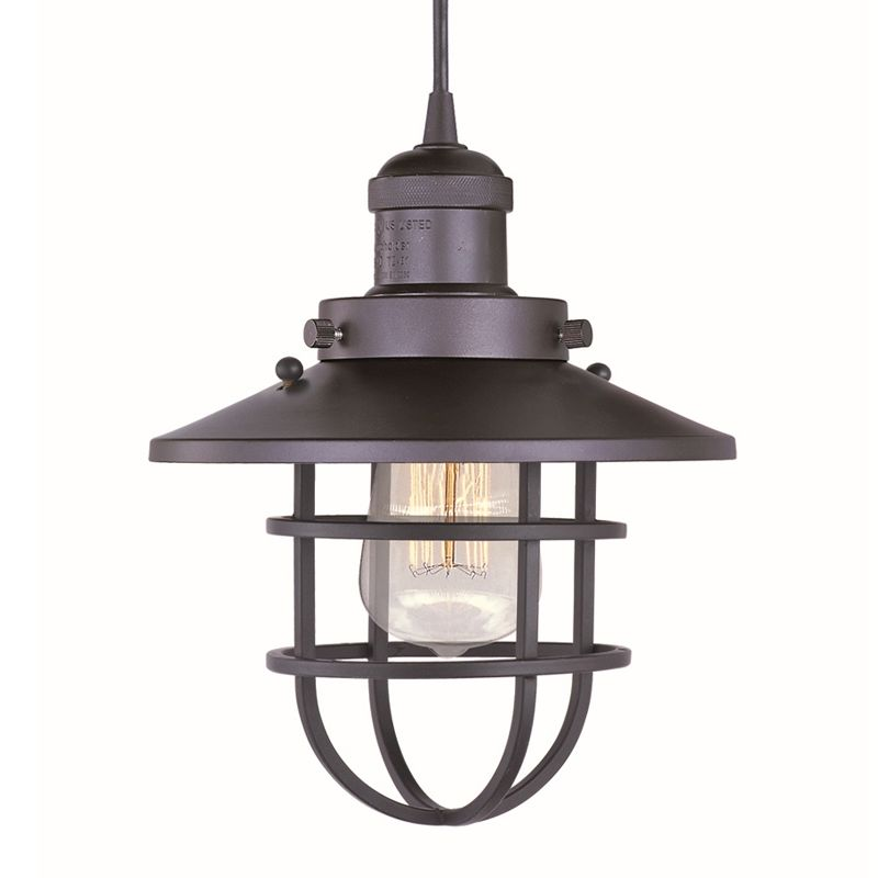 "Maxim 25030 1 Light 8"" Wide Pendant from the Mini Hi-Bay Collection"