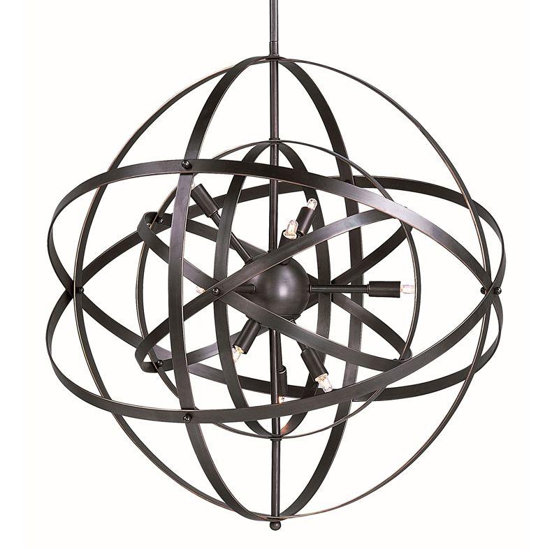Maxim 25130BR Bronze Rupert Contemporary Sputnik Pendant