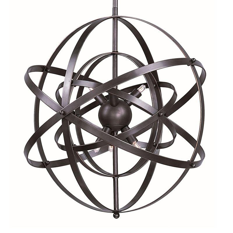 Maxim 25133BR Bronze Rupert Contemporary Sputnik Pendant