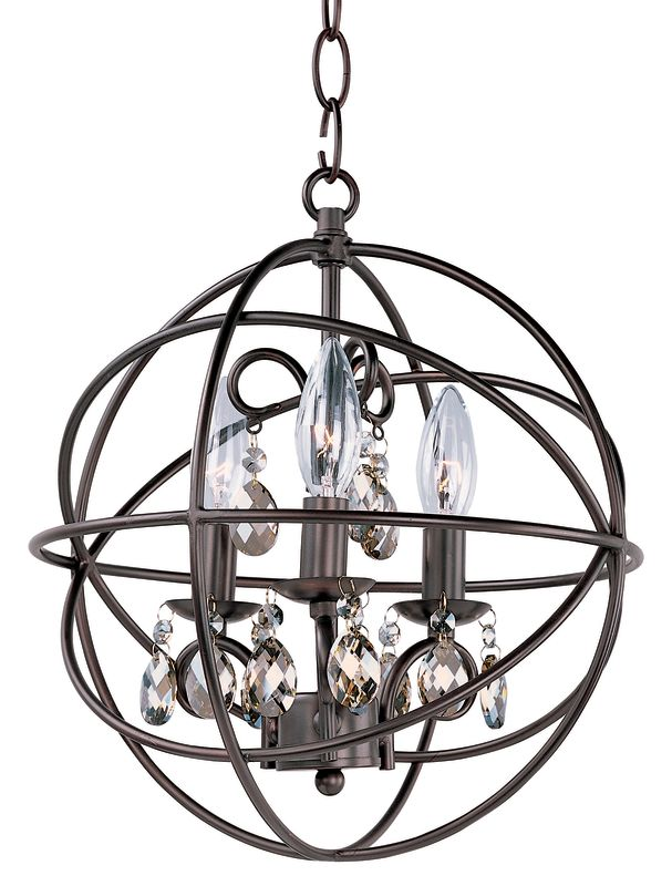 Maxim 25140OI Oil Rubbed Bronze Contemporary Orbit Chandelier
