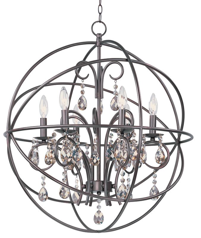 Maxim 25144OI Oil Rubbed Bronze Contemporary Orbit Chandelier