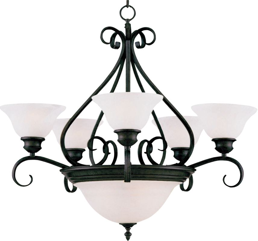 Maxim 2656 Pacific 7 Light Single Tier Chandelier Kentucky Bronze /