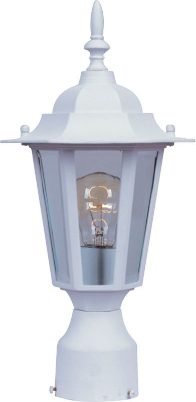 Maxim 3001 Builder Cast 1 Light Outdoor Post Light White Outdoor