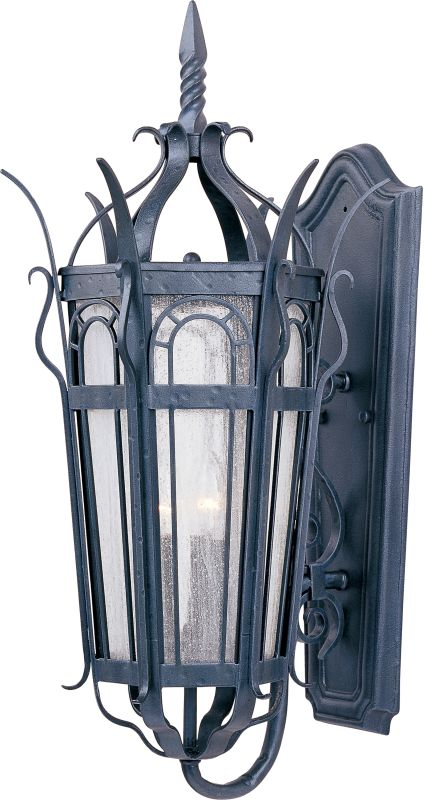 "Maxim 30042 3 Light 27"" Tall Outdoor Wall Sconce from the Cathedral"