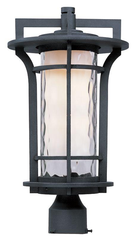 Maxim 30480 Oakville 1 Light Outdoor Post Light Black Oxide Outdoor