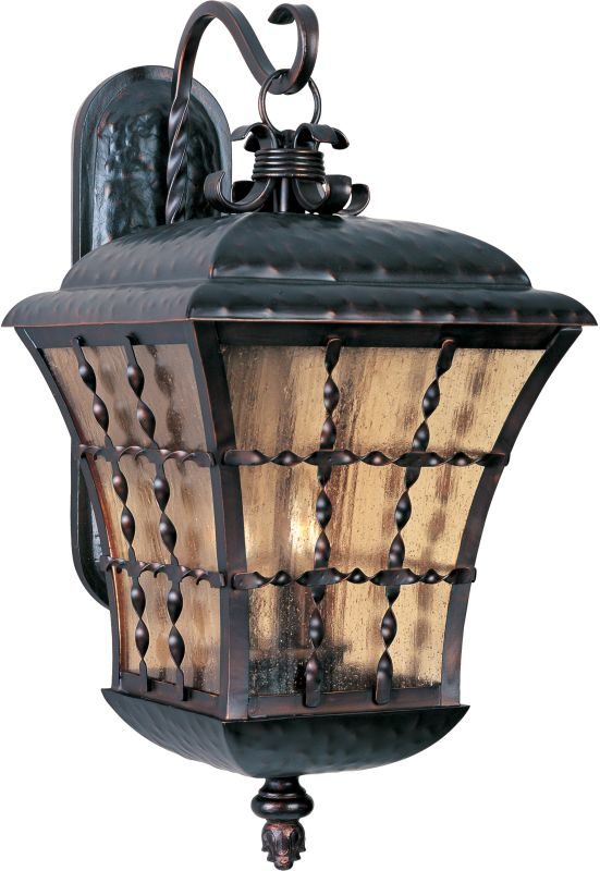"""Maxim 30496 3 Light 24.5"""" Tall Outdoor Wall Sconce from the Orleans"""