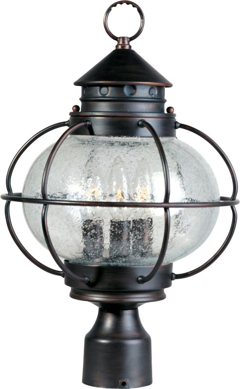 Maxim 30500 Portsmouth 3 Light Outdoor Post Light Oil Rubbed Bronze
