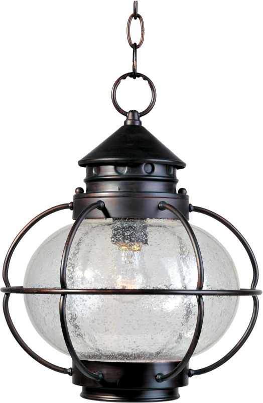 Maxim 30506 1 Light Outdoor Pendant from the Portsmouth Collection Oil