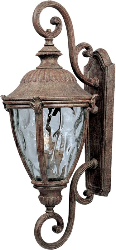 """Maxim 3188 3 Light 27"""" Tall Outdoor Wall Sconce from the Morrow Bay DC"""