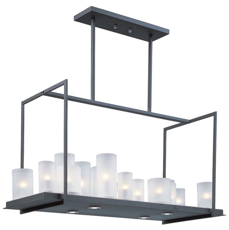 Maxim 32467 Urban Nights 20 Light Single Tier Linear Chandelier with