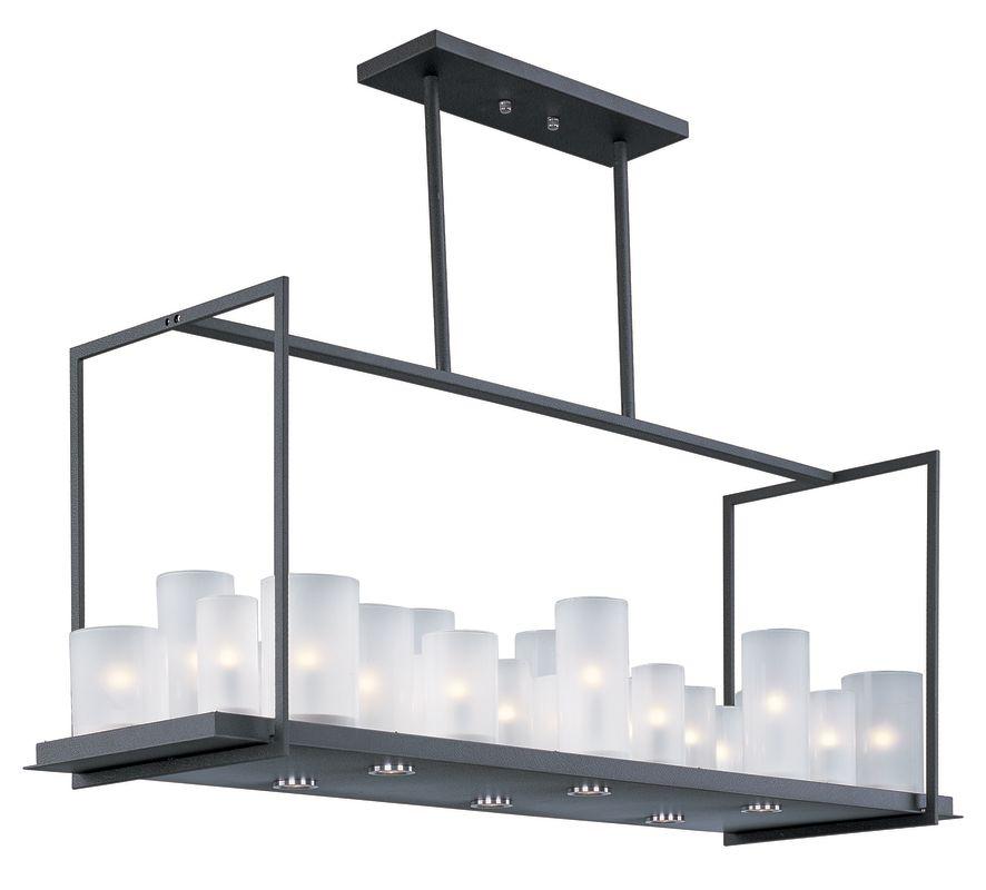 Maxim 32468 Urban Nights 29 Light Single Tier Linear Chandelier with