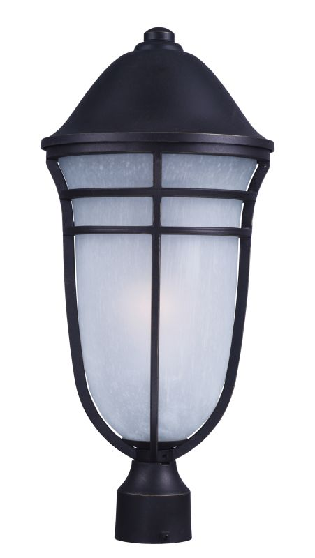 "Maxim 34200WPAT Westport DC 1 Light 23"" Tall Post Light with Wisp"